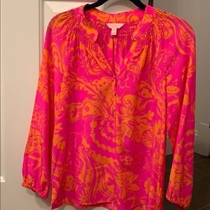 Lilly Pulitzer silk Elsa blouse